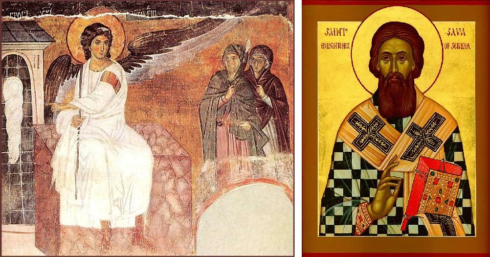 סיפורם של סאוָוה הקדוש הסרבי <br/> (St. Sava) והמלאך הלבן